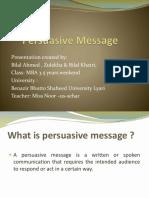 Final Persuasive Message