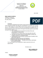 Communication Letter to MDRRM LGU