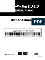SP500 - Digital piano - Owner Manual