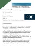 La Autonomía Del Derecho Comercial. Necesidad de Su Replanteo- Arias Cau
