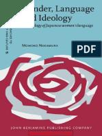 Gender, Language and Ideology - A Genealogy of Japanese Womens Language (Nakamura) Libro
