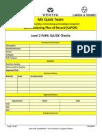 Level 2 m200 Pahu Qa-qc Checks