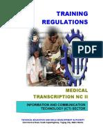 Tr - Medical Transcription Nc II