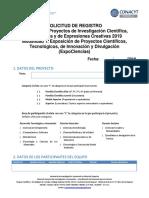 Formulario de Registro 2019