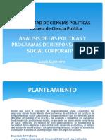 Analisis de Las Politicas y Programas de Responsabilidad Social Corporativa