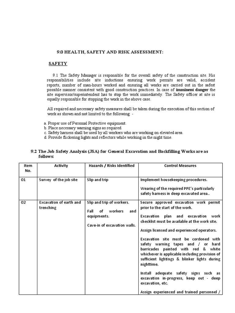 worksheet Job Hazard Analysis Worksheet electrical jsa template job safety analysis worksheet forms and excavation back filling works jsa