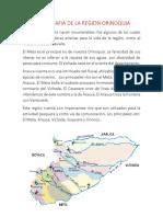 Hidrografia de La Region Orinoquia