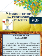 Code of Ethics for Professional