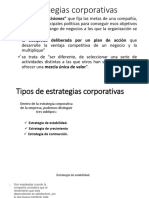 Estrategias corporativas