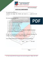 Carta de Compromiso Para Estudiantes