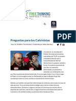 Preguntas Para Los Calvinistas – Free Thinking Ministries