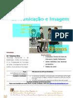 Folheto de divulgação de Formação em Comunicação e Imagem