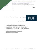 A Influência Da Prova Pericial Nas Decisões Judiciais Acerca Da Responsabilidade Civil Dos Médicos