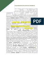 modelo contrato prestación de servicios freelance