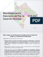 Metodología PDM 2018-2021