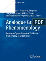 Analogue Gravity Phenomenology