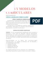 Tipos y Modelos Curriculares