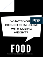 Is FOOD your biggest challenge to losing weight?