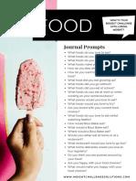 FOOD Journal Prompts.