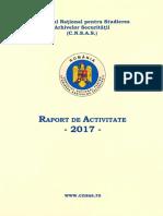 Raport CNSAS 2017