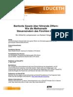 Benford Fuehrende Ziffern-H%FCngerb%FChler