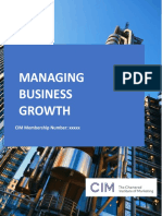 Managing Growth Business