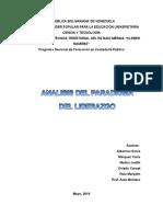 Trabajo de Investigacion Analisis Del Paradigma Del Liderazgo