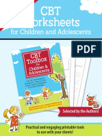 Free Worksheets From Cbt Toolbox for Children and Adolescents