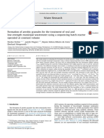 Formation of Aerobic Granules for the Treatment of Real and Low-strength Municipal Wastewater Using a Sequencing Batch Reactor Operated at Constant Volume