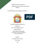 Informe- El Acto de Escribir