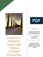 "Evidencia 5 Workshop ""Using Verbs to Build Customer Satisfaction Tools"""