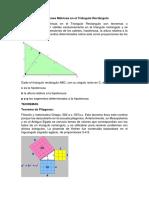 Relaciones Métricas en El Triángulo Rectángulo