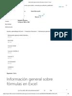 Información General Sobre Fórmulas en Excel - Excel