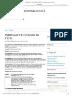 Formulas y Funciones en Excel - El Blog de Informacione13