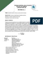 Equilibrio Químico. Iones y Ley de Acción de Masas