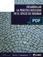 TEXTO Desarrollar La Práctica Reflexiva en El Oficio de Enseñar
