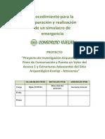 Procedimiento Para La Preparacion y Realizacion Emergencia