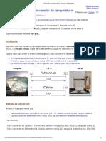 Conversión de Temperatura - Celsius y Fahrenheit