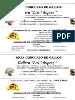 Gran Concurso de Gallos Vasquez