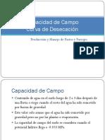 Practica 8. Capacidad de Campo y Curva Desecacion