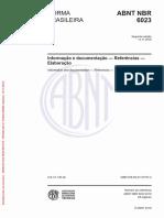 ABNT NBR 6023 2018