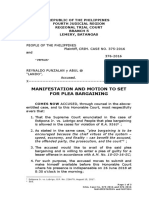 Plea Bargaining, Reynaldo Punzalan y Abul