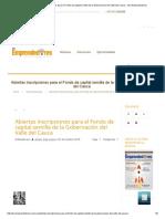 Abiertas Inscripciones Para El Fondo de Capital Semilla de La Gobernación Del Valle Del Cauca – Ser Emprendedores