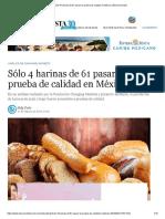 Sólo 4 Harinas de 61 Pasan La Prueba de Calidad en México _ El Economista