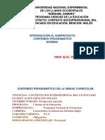 Vivencial Contexto Socioprofesional Inglés