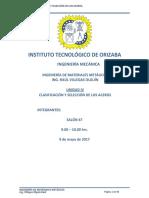UNIDAD IV CLASIFICACIÓN Y SELECCIÓN DE LOS ACEROS.