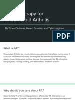 rheumatoid arthritis gene therapy