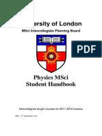 MSci Handbook 11