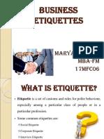 Business Ettiquetes