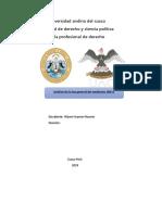 Análisis de Los Artículos 1 Al 15 de La Ley General Del Ambiente N
